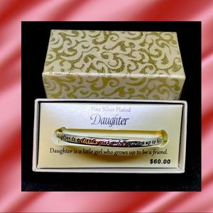 """Fine Silver Plated """"Daughter"""" Bracelet - New in GB"""